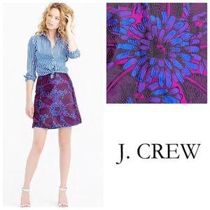 J. Crew Mini Skirt in Midnight Floral Jacquard